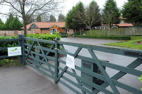 Closed gates at Allerthorpe Park