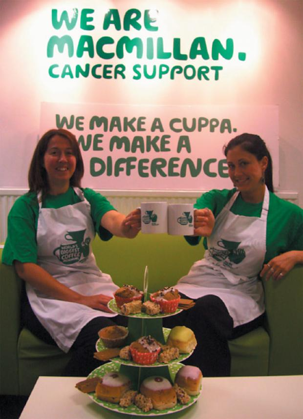 Macmillian fundraising managers Sally Millington (left) and Crystal Ness