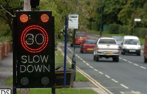 Signs like these could be used to cut motorists' speed
