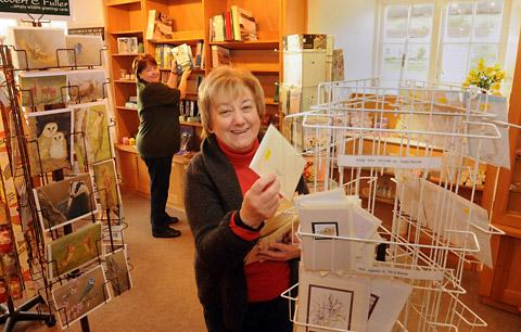Maureen Wass, front, Ryedale Folk Museum's retail manager, and Wendy Simms, learning assistant, get ready for  the new season