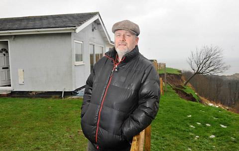 "Kane Cunningham said the landslips situation is a ""living nightmare for residents"""