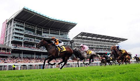A packed Knavesmire for York Racecourse's 2012 Welcome To Yorkshire Ebor Festival