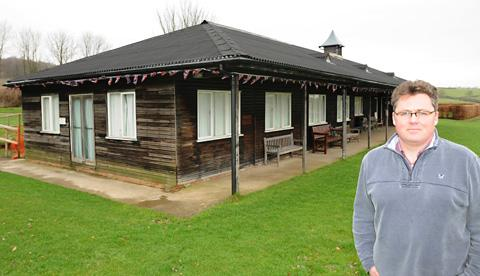 John Higgs, chairman of the Helmsley Recreation Ground Committee, outside the sports club