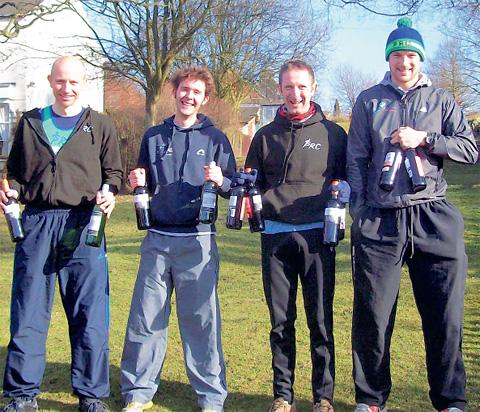 Pickering's victorious Commondale Clart men's team of, from left, Andy Harvey, Mike Richmond, Steve Watson and Andy Mitchell