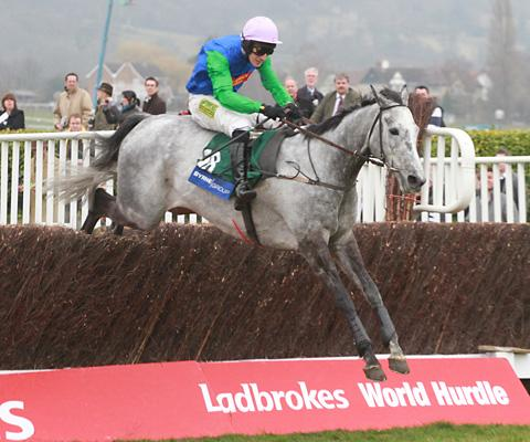 Danny Cook wins the Byrne Group Steeplechase at the 2010 Cheltenham Festival on David Johnson's Great Endeavour. He is seeking more Festival highs this time round
