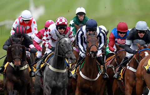 Countrywide Flame, centre right, during last year's Triumph Hurdle success