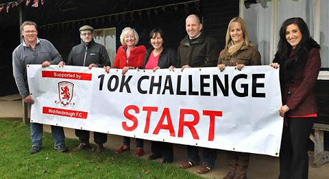Organisers  of the Helmsley 10k get ready for the annual event on Easter Sunday