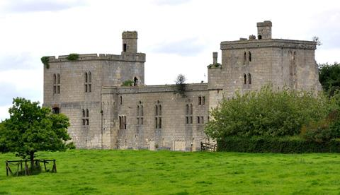 Gazette & Herald: Wressle Castle, left, was once a magnificent castle but this facade is all that remains
