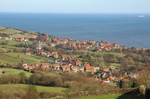 Gazette & Herald: The outstanding view across Robin Hood's Bay which you can enjoy on this cycle ride
