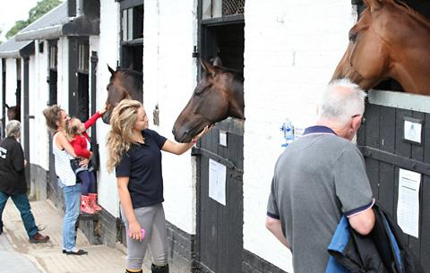 A previous open day at Malton Stables