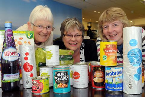 Items already donated to Ryedale food bank