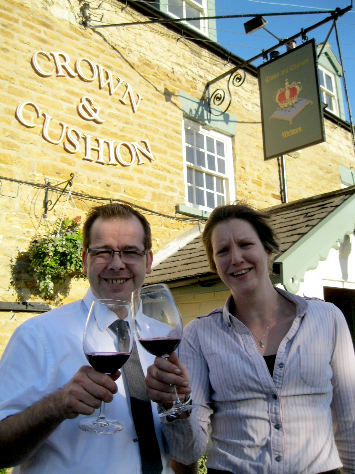 John Glover, general manager  of the Crown and Cushion,  and Karen Metcalfe, of Provenance Inns