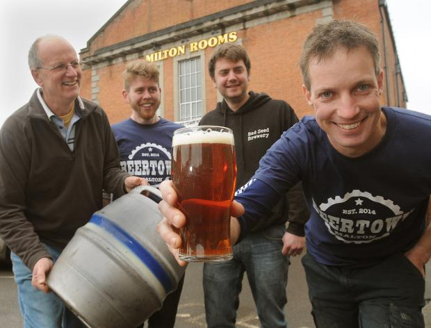 From left, Ian Goodall, Chris Waplington, James Broad and Phil Saltonstall from the  Malton  breweries Brass Castle and Bad Seed who are  staging Beertown at the Milton Rooms in March