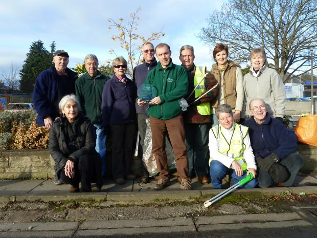 The members of Malton and Norton Tidy Group during one of their recent litter-pick sessions