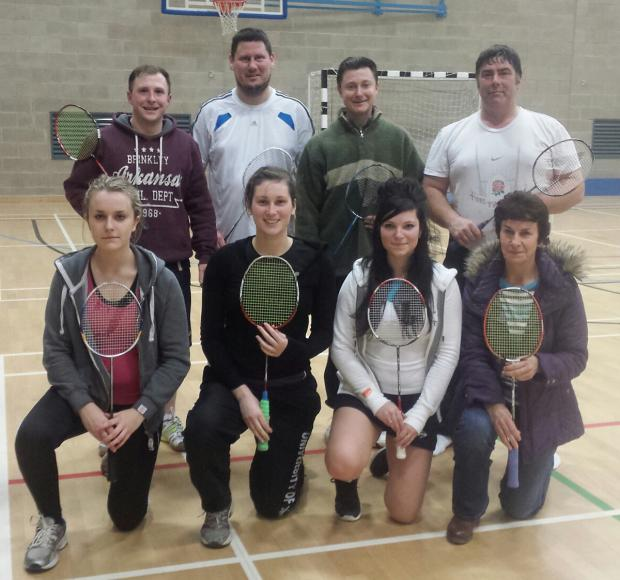 The Norton mixed team, back row, from left to right: Matt Davies, Jason Feaster, Andrew Cooke, Tony Watson. Front, from left to right: Eleanor Mawson, Megan Butcher, Jessica Cooke, Wendy Mawson.