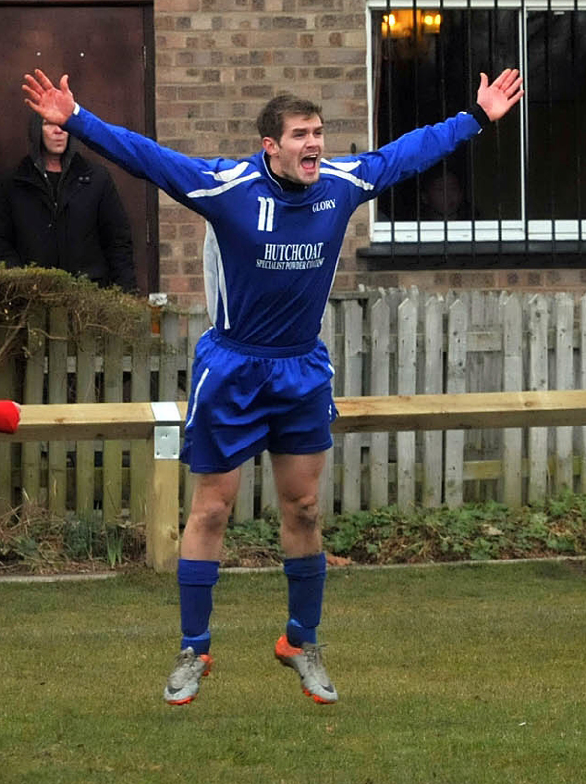 Tom Paley, who bagged a hat-trick in Terrington Glory's win