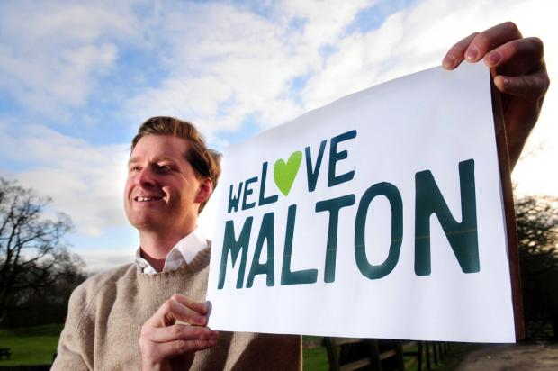 Gazette & Herald: Tom Naylor-Leyland with the new logo