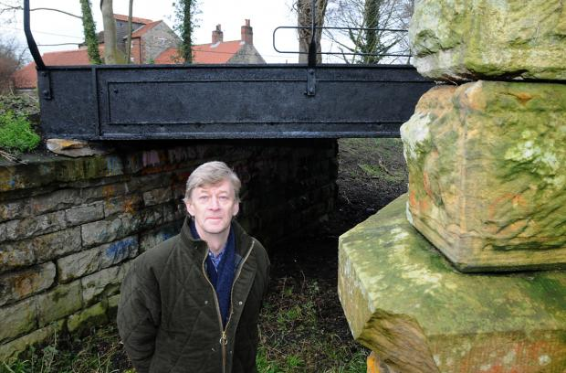 Jerry Watts, who is leading the restoration of old railway bridge in Pickering. He is also appealing for people to submit  their memories of it .