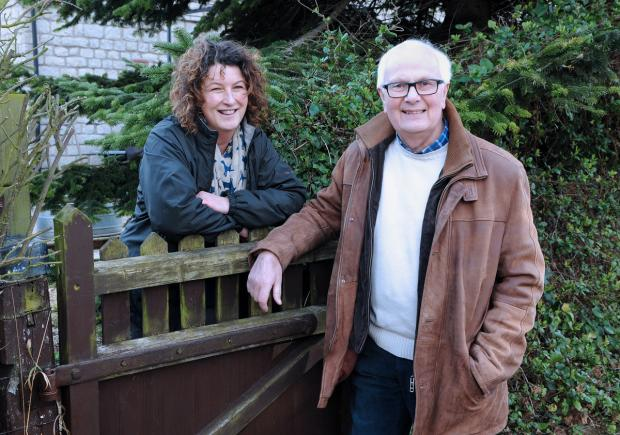 Settrington neighbours Lucy Martin and Rodney Anness, who graduated from the University of York on the same day