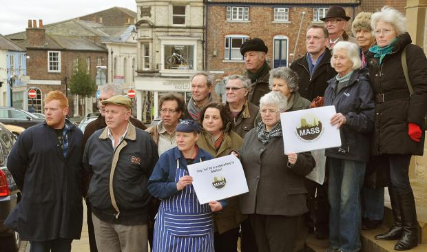 Malton traders protest against plans for a supermarket at Wentworth Street car park