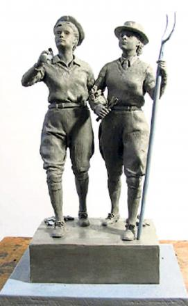Clay maquette of the planned bronze sculpture