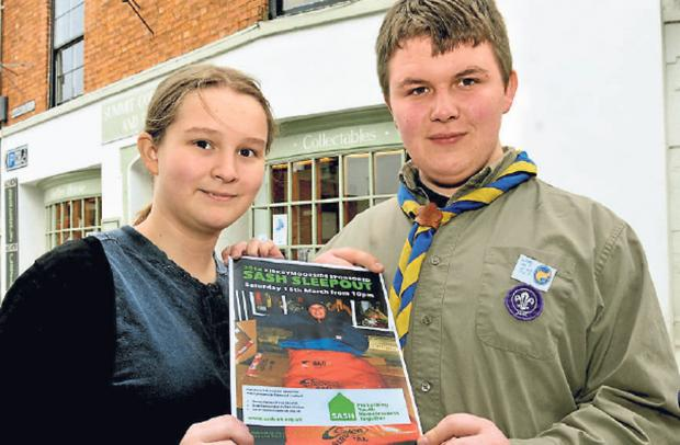 Gazette & Herald: Emily Thomas and Josh Gibson are taking part in the annual SASH Sleepout in Kirkbymoorside