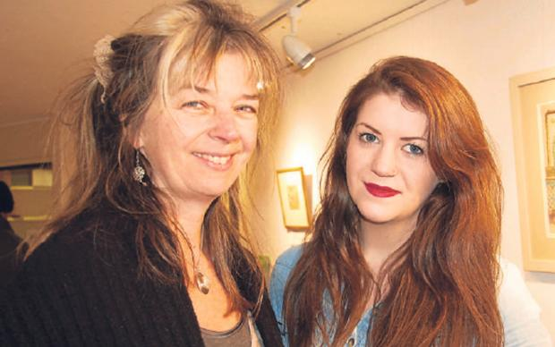 Em Whitfield Brooks, artistic director of Helmsley Arts Centre, and Natasha Jones, right, Ryedale's first arts apprentice