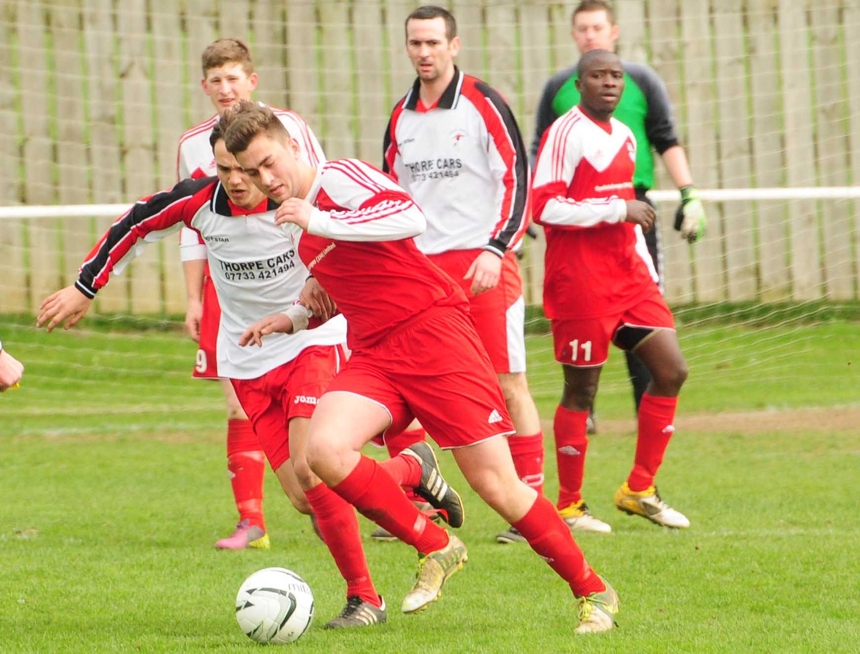 Kirkbymoorside v  Selby. Ryan Rivis in action.