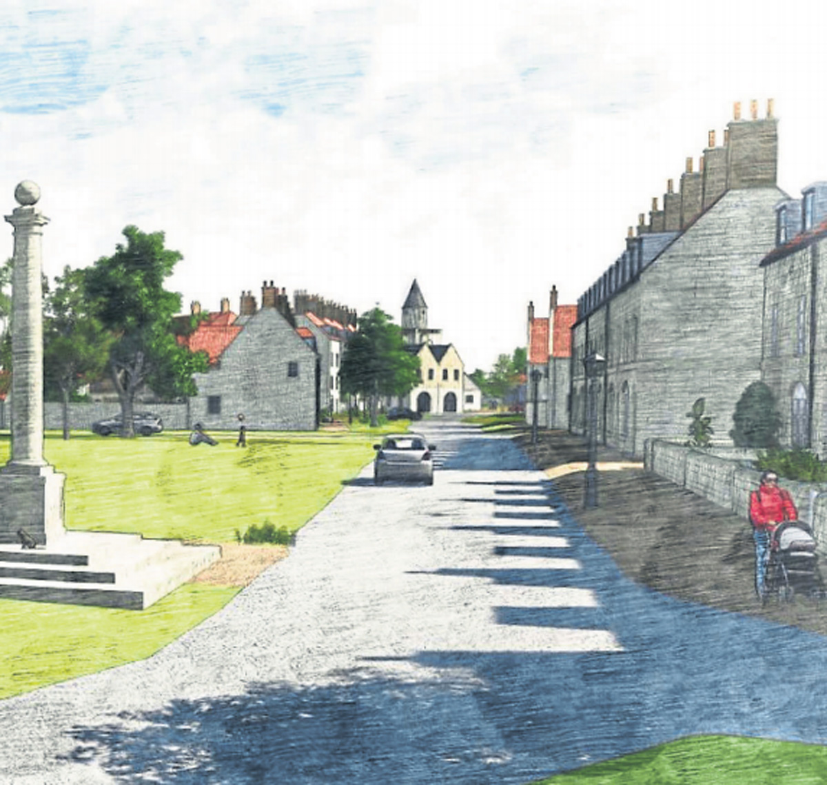 The proposed development at Castle Howard Road in Malton