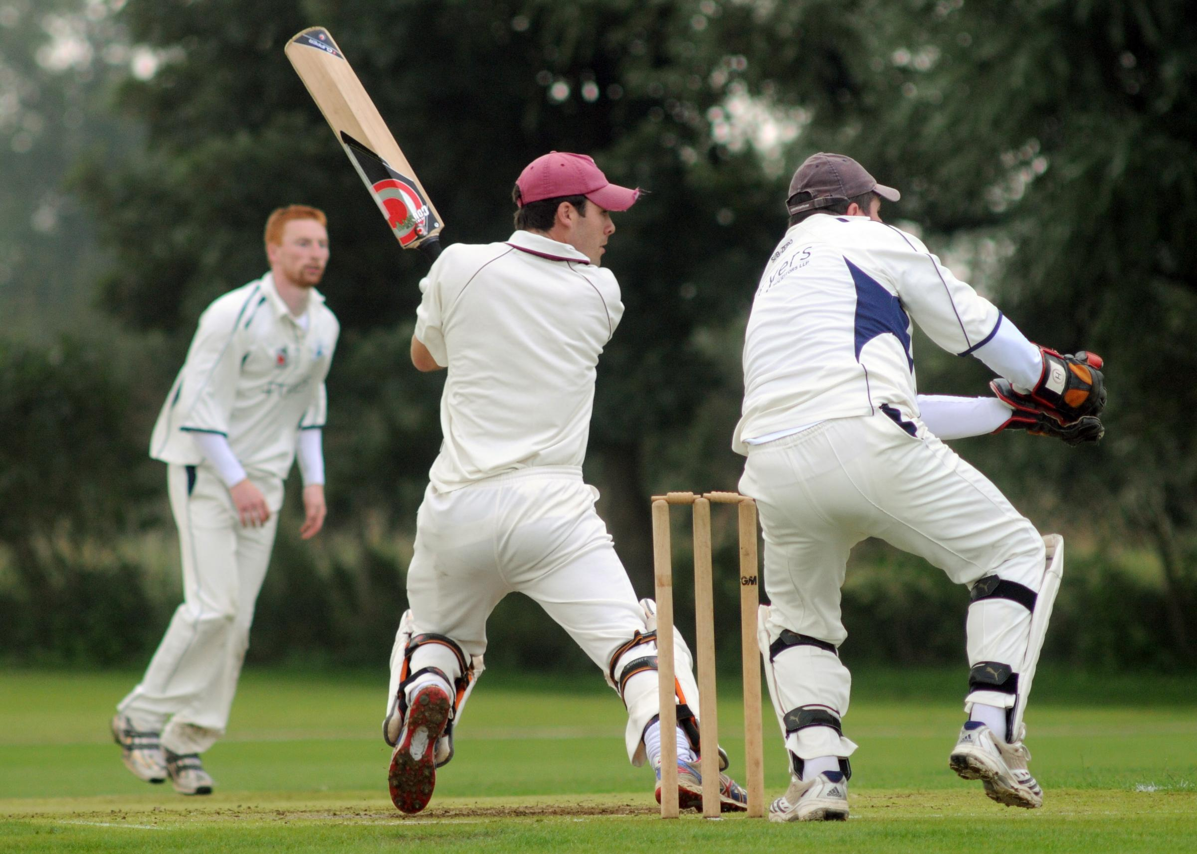 Batsman Adam Fisher, who is likely to be a key figure for Sheriff Hutton Bridge this year