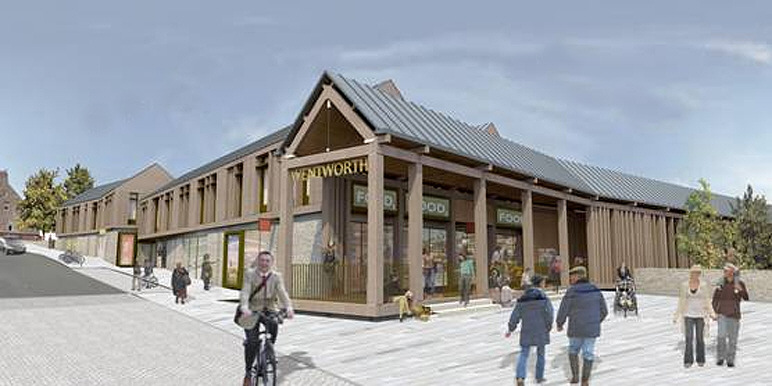Artist's impression of the proposed supermarket development at the Wentworth street car park, Malton