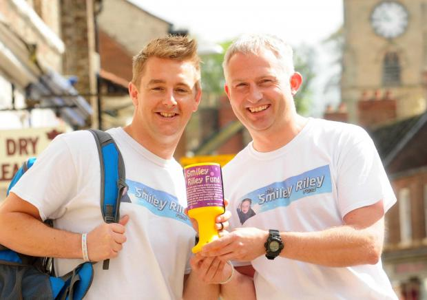 Gazette & Herald: Sgt Marc Del-Valle and S Sgt Steve Wood, pictured in Malton, prepare for a charity fundraiser in aid The Smiley Riley fund.