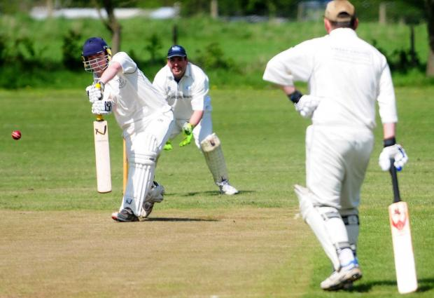 Gazette & Herald: Sherburn's Stuart Pickard in action.