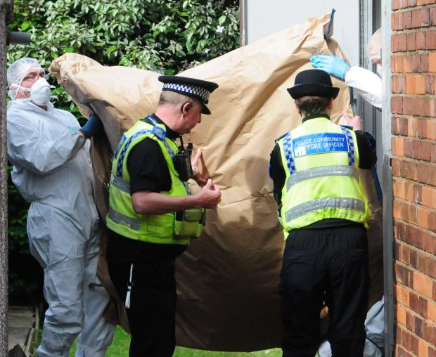 Gazette & Herald: Police forensic officers at work today at the house in Burnholme Grove.