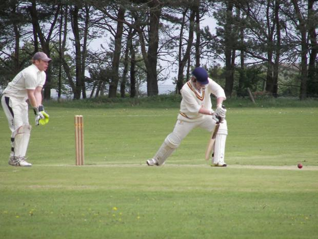 Gazette & Herald: James Armstrong pictured batting