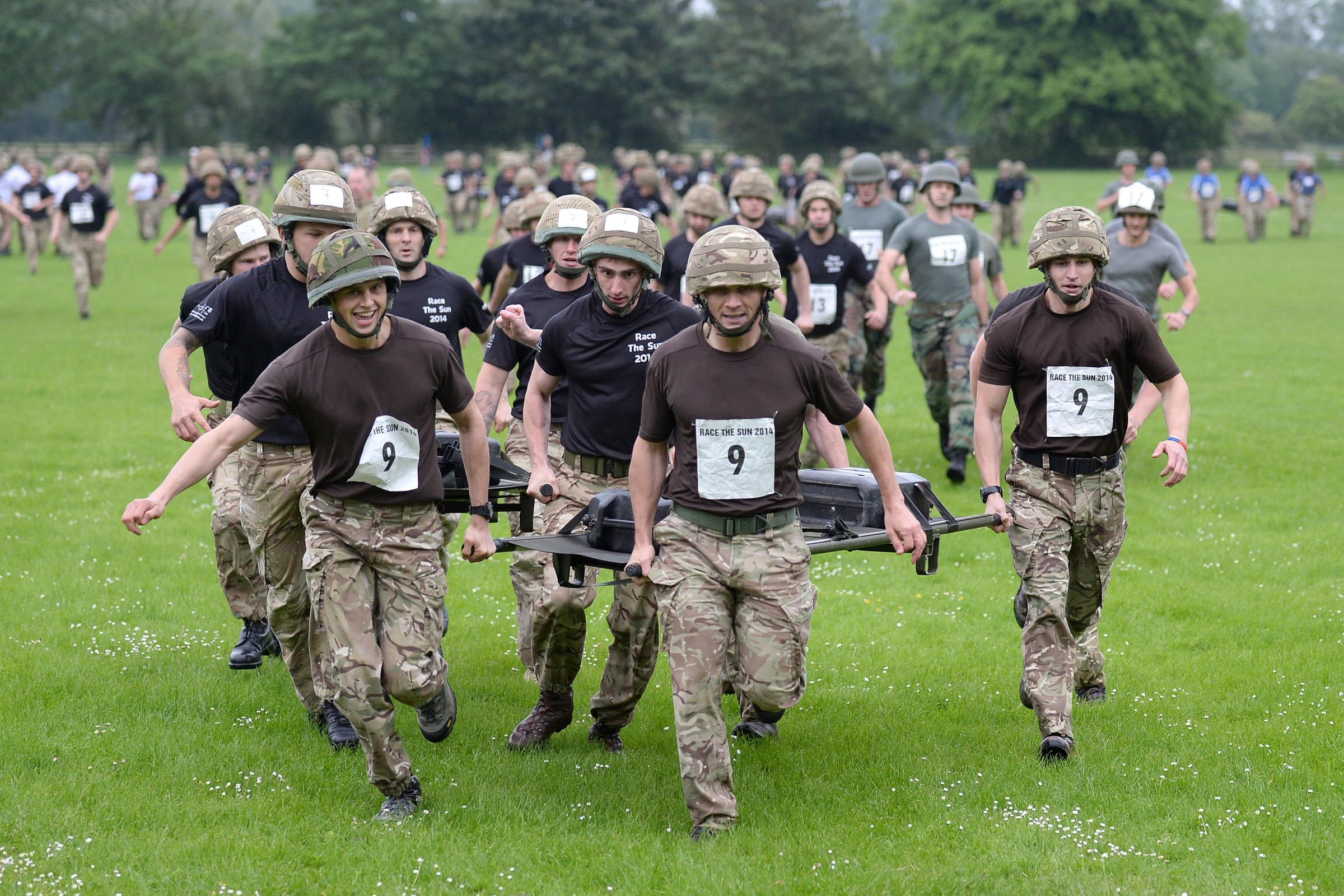 Soldiers put fitness to the test in North Yorkshire challenge