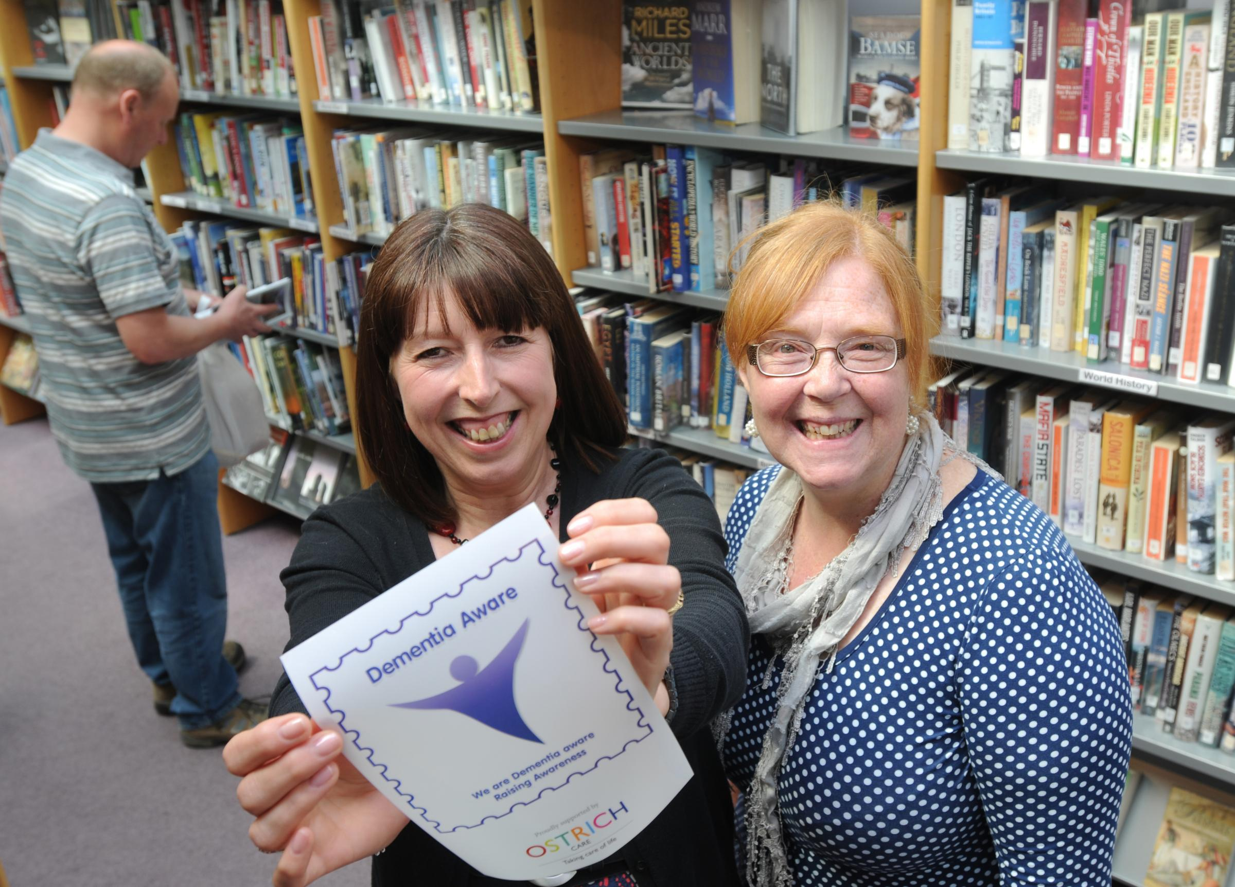 Julie Atkinson, left, service development officer at Pickering library, and Kim Penn