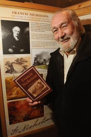 Colin Coulson with his book on Francis Nicholson