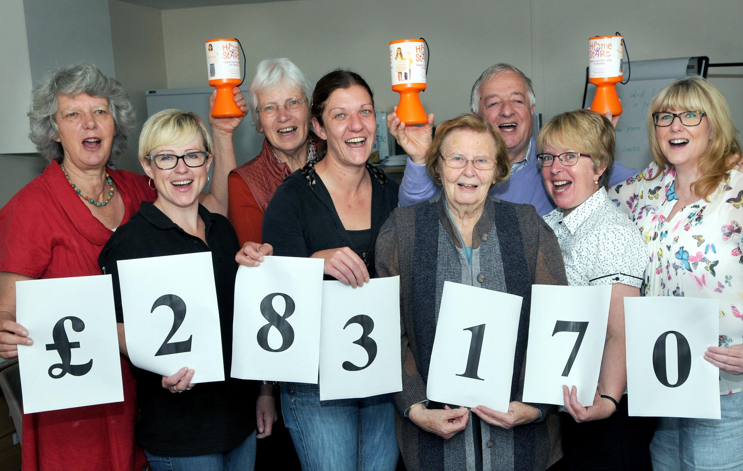 Celebrating the news of the Lottery funding, at Home-Start Ryedale