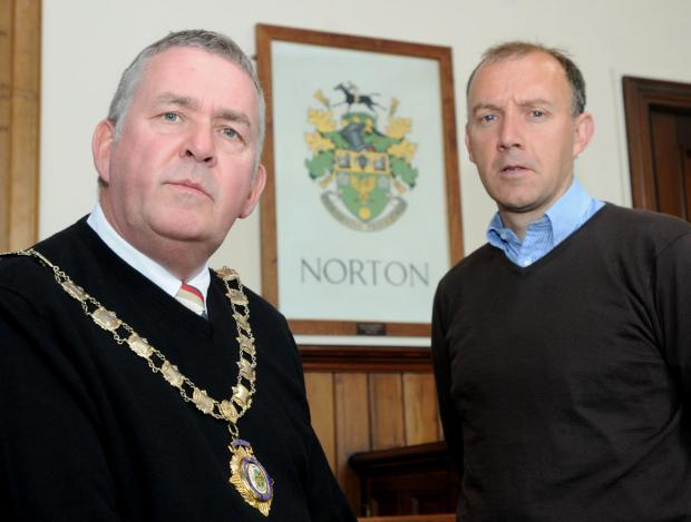 Mayor of Norton, Ray King with his new deputy, Antony Crozer