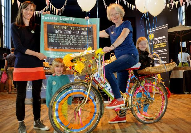 From left, Perry Bennett, Ella Bennett, Emma Brooksbank and Helen Lowdell launch the Norton and Malton Summer of Sport Fiver Fest initiative
