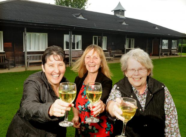 Toasting to the success of the reopening of the Helmsley Community and Sports Club are (from left) Chairman of the Management Committe Carol Swift , Bar Steward Frances Debenham and Manager Dinah Farley. Picture :Garry Atkinson  (6882356)