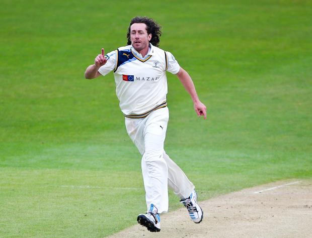 Yorkshire's Ryan Sidebottom