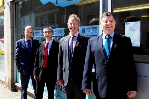 From left, accountant Tim Jones, accounts senior Andrew Windress, accountant Graeme Hay and accounts senior Ian Whitham