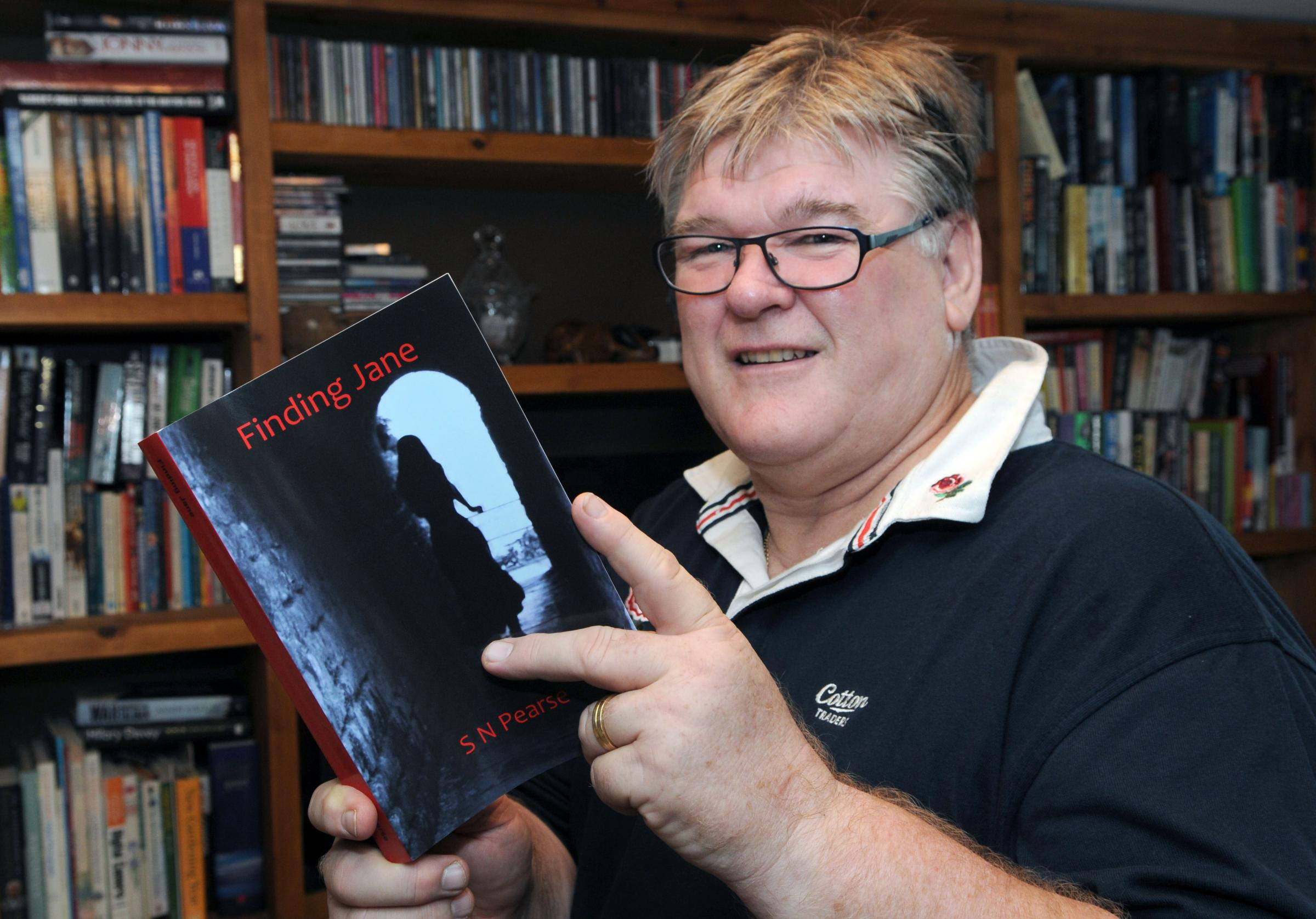 Author Steve Pearse, of Great Barugh, with his novel Finding Jane.