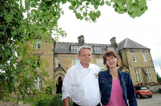 Gazette & Herald: Owners Gunther and Dagmar Schwark at the Mount Hotel in Malton.