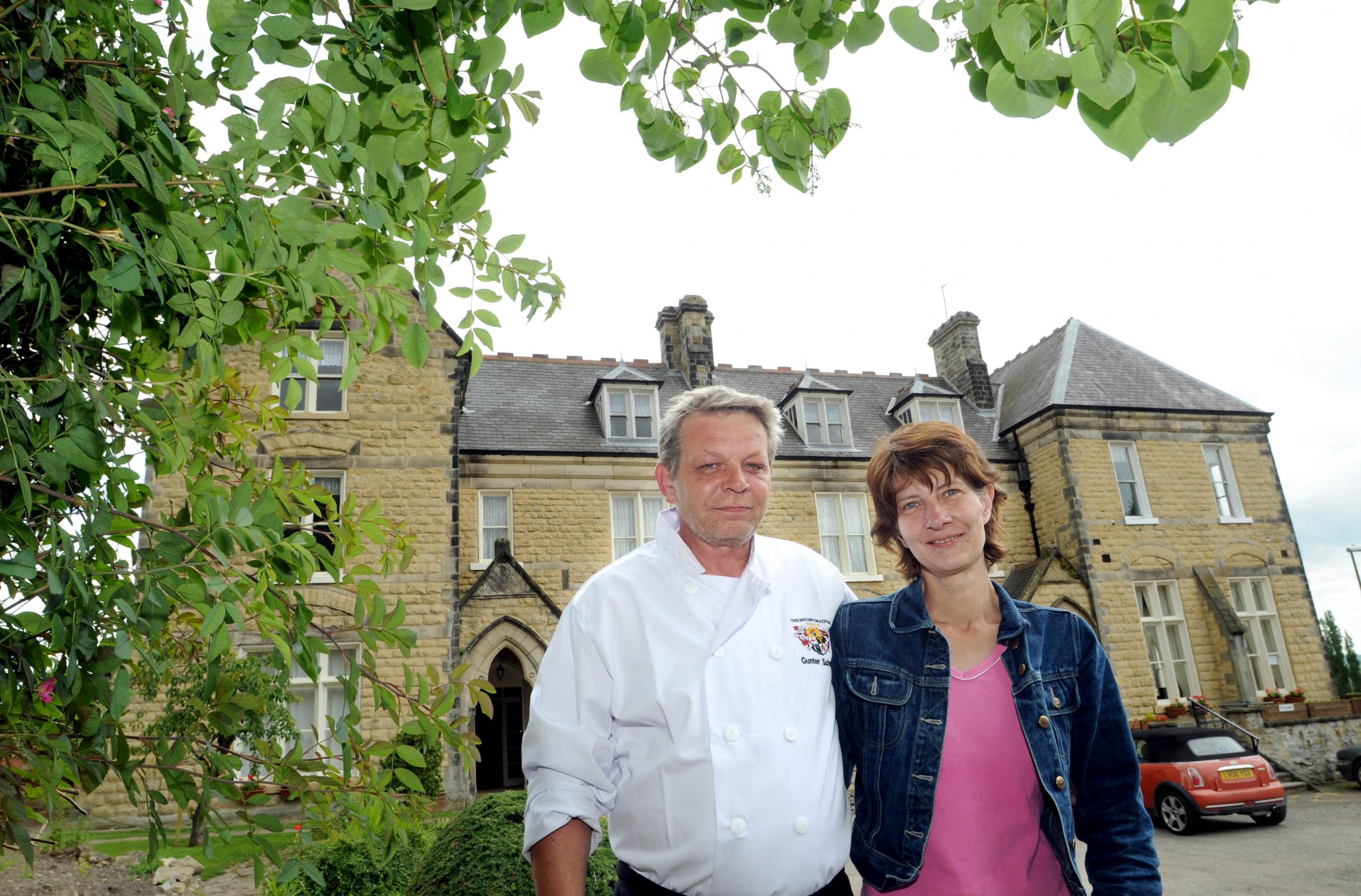 Owners Gunther and Dagmar Schwark at the Mount Hotel in Malton.