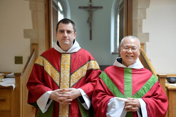 Ordained: Br Columba Moujing (right) and Br Cedd Mannion at Ampleforth Abbey