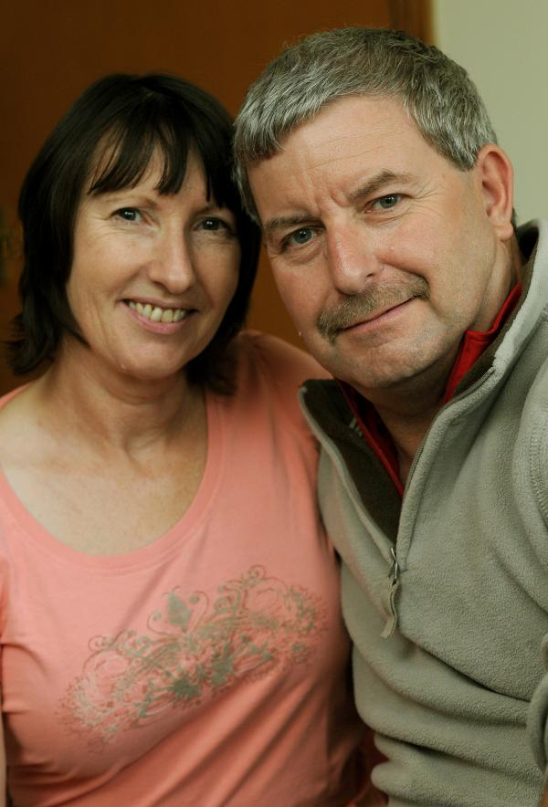 Andy Henwood, of Osbaldwick, with his wife, Wendy