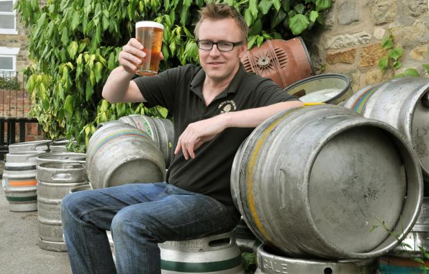 Landlord Dan Farrall (correct) who is holding a beer festival at the Jolly Farmers Leavening .Nigel Holland (7976433)